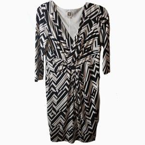 Anne Klein l faux wrap dress size 8 med